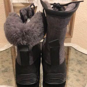 "UGG Shoes - UGG ADIRONDACK BOOT GRAY BLACK SZ 9 ""NEW"""